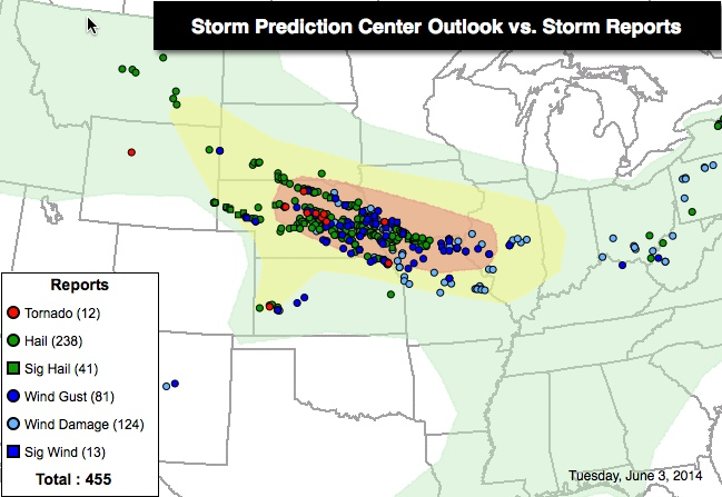 Storm Prediction Center - http://www.spc.noaa.gov/