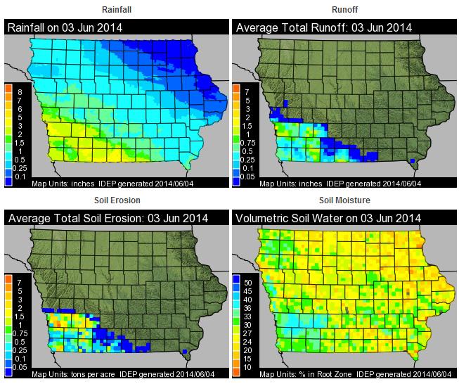 Iowa Daily Erosion Project - June 3, 2014
